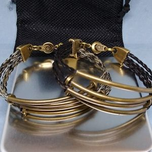Jewelry - Brass Bangle Horsehair Bracelet